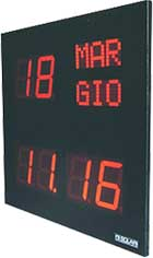 Orologio datario CDL con display luminoso