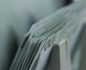 Banconote durante un conteggio